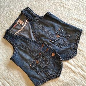 Vintage Bill BlassDenim Jean Vest Petite